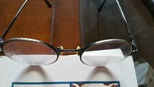 Vintage Armani eyeglasses etched pewter,mid 1980s, oval, excellent condition.