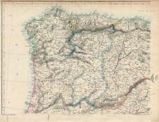 IBERIA NW. Galicia Asturias Oporto Leon Santander Castille. WELLER 1863 map