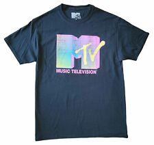 New Men's Music Television Mtv Vintage Retro Vintage Black Tv Show T-Shirt Tee