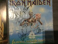 Iron Maiden seventh son of a seventh son fully signed lp