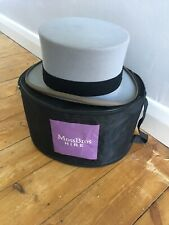 Vintage Moss Bros Grey Top Hat with Bag - Covent Garden - Size: 7 1/8
