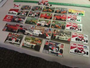 MARLBORO Formula One Team Drivers Sticker Set  1980 1990 era. Original - RARE!