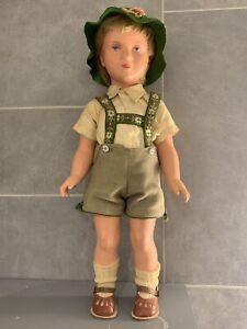 "Vintage 1950's Kathe Kruse T40 Celluloid German Boy Doll 15"""