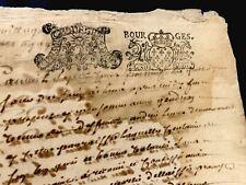 ANTIQUE STAMPED DOCUMENT 1719