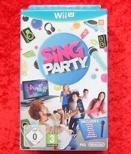 Sing Party Wii U, Box composé un micro, Nintendo Wiiu Jeu, nouveau neuf dans sa boîte