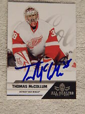 Detroit Red Wings Thomas McCollum Signed 10/11 Panini All Goalies Card Auto