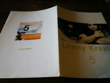 LENNY KRAVITZ - Chemise cartonnée promo / Promo folder !!! 5 !!!