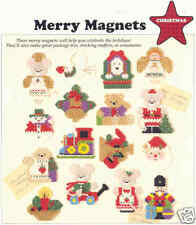 MERRY MAGNETS  ~  plastic canvas pattern ~  CHRISTMAS