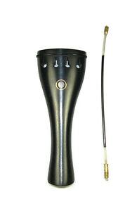 NEW 4/4 size ebony violin tailpiece parisian eye free nylon tie and free postage