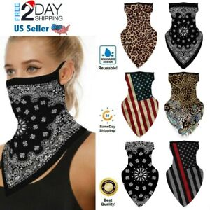 Bandana Face Neck Gaiter Mask Covering Reusable Neckerchief Scarf with Ear Loops