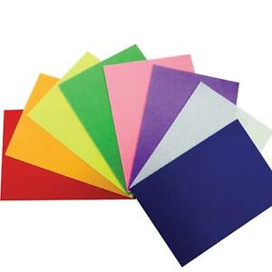 10 Pack Assorted A4 Felt Fabric Sheets for Arts and Crafts