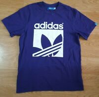 Adidas T Shirt Top Short Sleeves Purple Size M