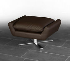 Leather footstool ottoman comfortable pillow. Durable 17 kg. Leather dark brown