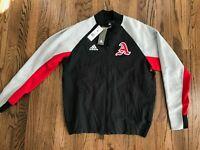 58 New Adidas Mens FL3593 VRCT Full Zip Black Red Jacket Size Medium $100