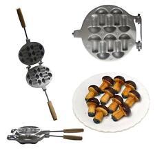 Sweet Pastry Maker Russian Cookie Mushrooms Baker Oreshki Cookies Form Iron Pan