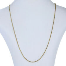 """Yellow Gold Foxtail Chain Necklace 24"""" - 14k Spring Ring Clasp"""