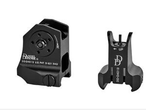 Tactical 1 Pair Fixed Front Rear Iron Sight Set DD Rapid Backup Sights Hunting
