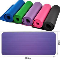Thick 10mm Non-slip Yoga Mat Exercise Fitness Pilates Meditation Pad Mattress