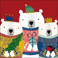 Pack of 5 We Three Kings Childline Charity Christmas Cards Cello Packs