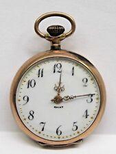 Antique Parkar WC Pink Gold Filled Pocket Watch.Nice Porcelain Dial 7-Jewels.