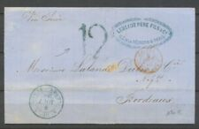 1862 Lettre de Saint Denis de la réunion Pour Bordeaux Via Suez. TB. X2823