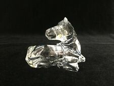 "Baccarat France Crystal Horse Foal Pony Resting Figurine, 4 3/4"" Long, 3 1/2"" H"
