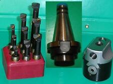 50mm Boring Head with INT40 shank M16 DIN2080 and set of 9 12mm diameter tools