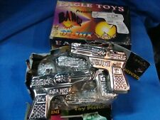 6 Old vintage Metal Toy Guns in box from India 1970