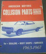 1963 1964 1965 1966 1967 AMC Rambler Marlin Rebel Collision Parts Catalog Book