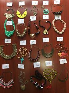 20 x necklaces Sportsgirl Forever New etc. fun vintage Jewellery $8 EACH bargain