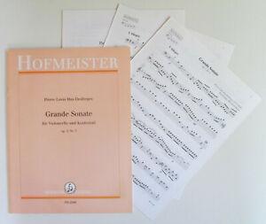 Hus-Desforges Grande Sonate für Violoncello und Kontrabaß op.3 Nr.3, top Zustand