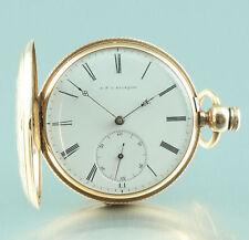 14k Gold Taschenuhr A. & U. Bourquin Biel Schweiz Savonette US Markt 1870
