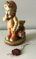 """Anri Sarah Kay 6"""" Finding Our Way Wood Carved Figurine - Mint"""