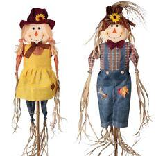 Mr & Mrs Scarecrow Bird Pest Repeller Vegatable Patch Set