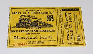 Disneyland Points Santa Fe & Railroad Train Ticket Main St. Street Depot Vtg