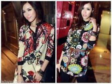 Regular Size Chiffon Floral Tops & Blouses for Women