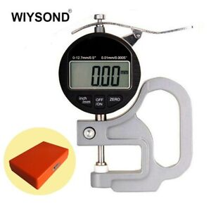 """High Accuracy 0.01mm/0.0005"""" Range 0-12.7mm / 0.5"""" Digital Thickness Measur"""