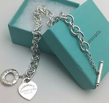 Return to Tiffany & Co New York  Silver Toggle Heart Tag Necklace