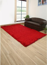 Shags Hand made Mars Red Color 5X8 Feet Synthetic Fiber Shag Rug