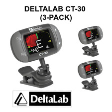 3-Pack DeltaLab CT-30 Clip-On Instrument Tuner Metronome Guitar Bass Uke CT30