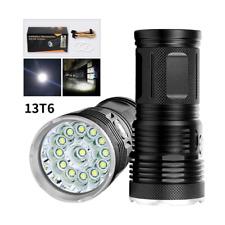 Ultra Bright 13 LED XML T6 Flashlight 23000LM 3 Mode Searching LED Lantern Torch