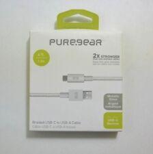 New Original PureGear Metallic Braided Silver USB-C to USB-A Cable
