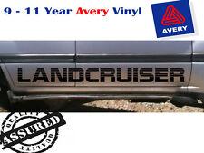 LANDCRUISER 80 100 200 series large side decals 1400mm black PAIR