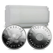 1 oz Silver Sunshine Mint Rounds - 20 Round Lot / Tube / Roll