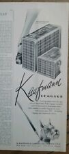 1948 Kaufman Luggage in Macdonald plaid Scottish terrier dog art ad