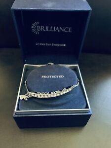"Brilliance Bracelet with Swarovski Crystals ""Watch Over Me"" NIB!"