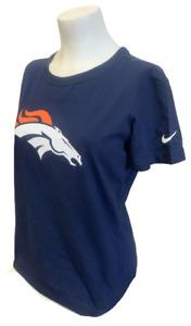 Nike Women's Denver Broncos Peyton Manning #18 Navy Slim Fit Shirt Size Large
