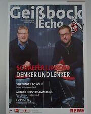 Geißbock Echo 1.FC Köln Saison 2012 / 2013 Nr. 11 Schaefer Jakobs Cologne