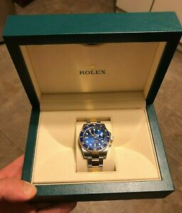 Rolex Submariner 116613BLSO Ceramic Blue Dial Two-Tone Stainless 18k Yellow Gold