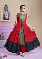 Women Indian kurta dress With palazzo Top Tunic Set blouse Combo Ethnic Bottom